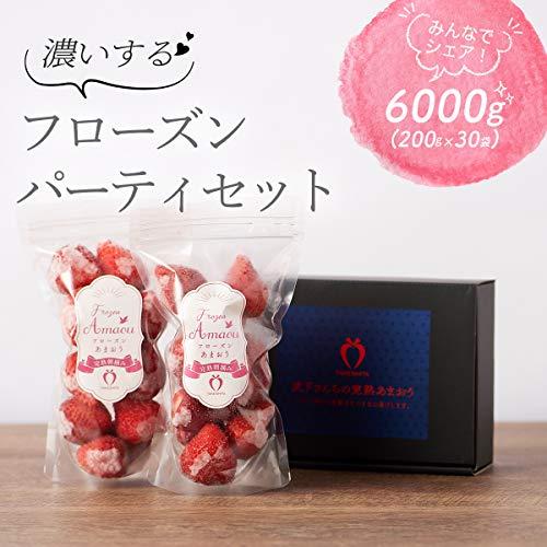 朝摘み&完熟あまおうを使用! 「濃いするフローズンパーティセット」200g×30袋