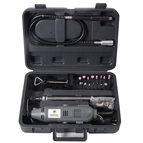 Goplus Flex Shaft Rotary Tool Kit Variable Speed W/Storage Case and 40pc Accessories