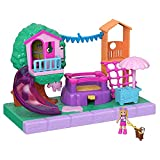 Polly Pocket Pollyville Playground Adventure Playset, Micro Polly Doll, Treehouse, Slide, Bouncy Castle, Jungle Gym, Ice Cream Cart, Peaches Figure & More, Great Gift for Ages 4 Years Old & Up