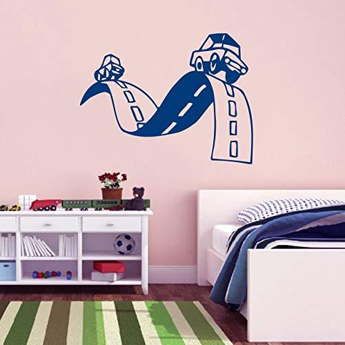 57 * 75 cm Kinder Rooma Art Decor Wandbild Straße Einfahrt Baby Auto Wandaufkleber Wandbild s Kinder Jungen Kinderzimmer Wohnkultur Wandtattoo