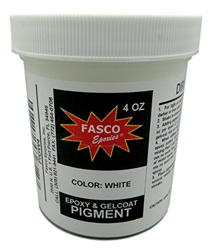 White Pigment for Epoxy Resin, Gelcoat, Paint - 4 oz