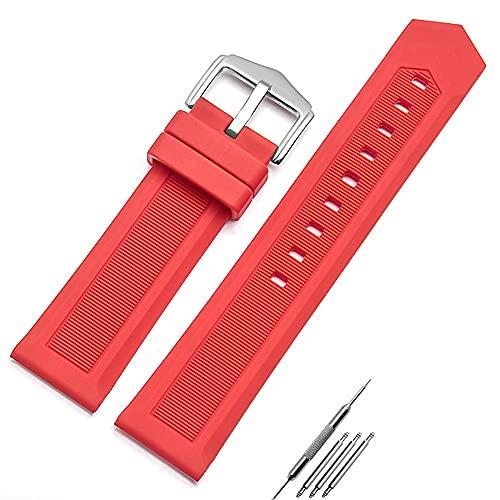 Shieranlee Correa Reloj Caucho Correas de Goma Repuesto para Hombres y Mujeres–12 mm, 14 mm, 16 mm, 18 mm, 20 mm, 22 mm, 24 mm, 26 mm, 28 mm