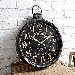 YH Antique Pocket Watch Silent Quartz Decorative Wall Clock Nostalgic Retro Fashion Wall Clock Clock 31.5 42 (cm)