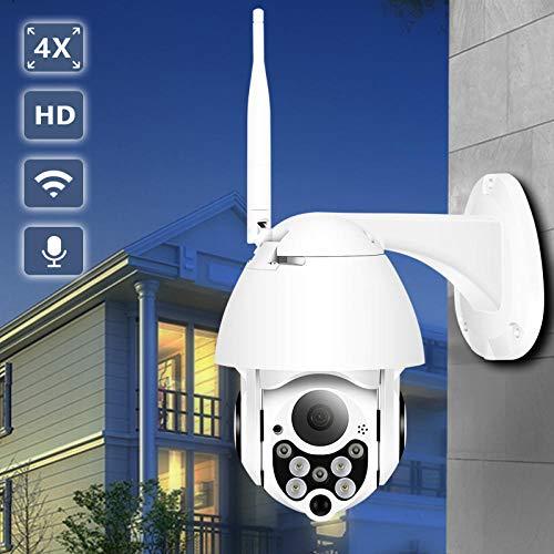 BESDER 1080P Cloud Storage Wireless PTZ Cámara IP 4X Zoom Digital Cámara Domo Speed WiFi al Aire Libre Audio P2P CCTV Vigilancia@Cámara 1080P Solamente_Federación Rusa_Enchufe de EE. UU_3.6