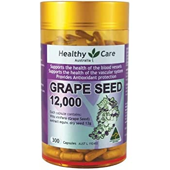Amazon Com Healthy Care Grape Seed Extract 12000 Gold Jar 300 Capsules Health Personal Care