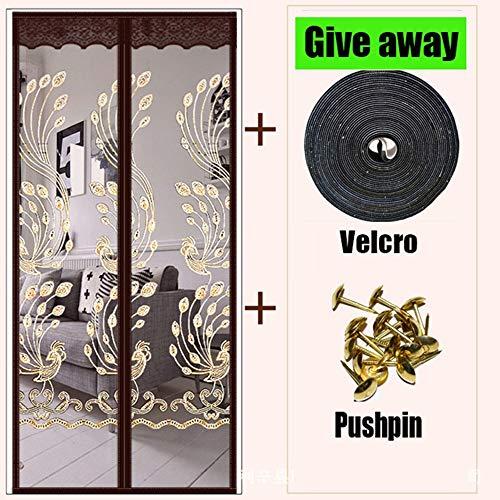 Das magnetische Netz gegen Mücken und Fliegenvorhänge schließt automatisch den magnetischen Adsorptionstürschirm Fenster Küchentürvorhang A5 B100xH210