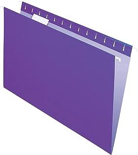 Office Depot 2-Tone Hanging File Folders, 1/5 Cut, 8 1/2in. x 14in, Legal Size, Purple, Box of 25, OD81631