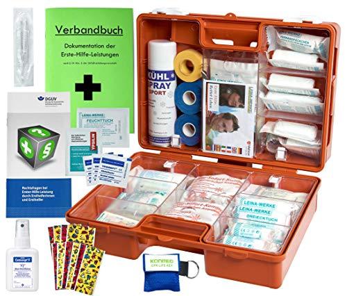 WM-Teamsport Sport-Sanitätskoffer PRO S1 Erste-Hilfe Koffer DIN 13157 & 13164 + Sport-Ausstattung mit Kältebehandlung + Sporttape
