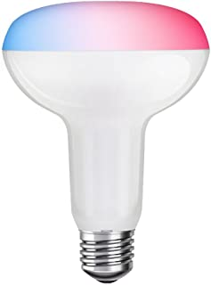 SHYU 12W Bluetooth Smart Led Flood Light Bulb-Smartphone Controlled Dimmable Multicolored Color Changing Lights-Works with iPhone, iPad, Android Phone and Tablet-RGBCW (N80) (R5,12W)