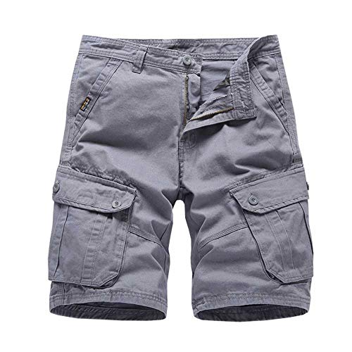 WANGJIE Zomer Heren Losse Overalls Shorts Heren Grote Maat Multi-Pocket Five-Point Broek
