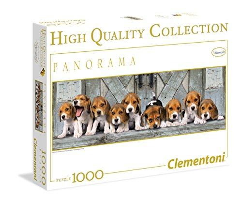 Clementoni - Puzzle de 1000 Piezas, Panorama, diseño Beagles (390762)