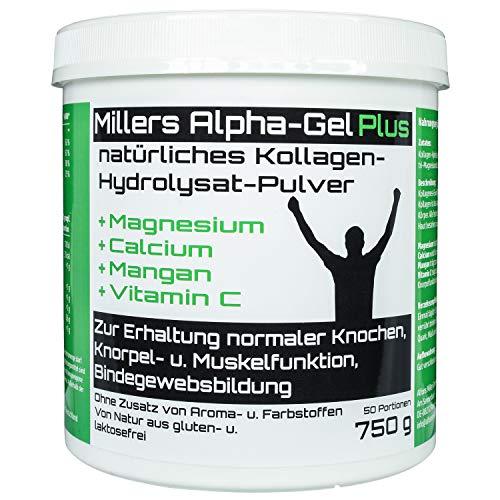 Kollagen Pulver mit Magnesium, Calcium, Mangan, Vitamin C für Ihre Knochen, Knorpel- u. Muskelfunktion, Bindegewebsbildung (Ohne Zusatzstoffe) - Made in Germany