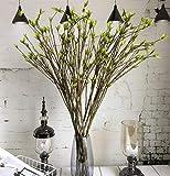 Yougernok Fleur Artificielle Branche d'arbre en Mousse De Plastique Longue De 95 Cm Facile À Plier Plantes Artificielles À Feuilles Vertes pour L'Arrangement Floral -1_Piece_No_Vase
