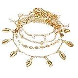 drawihi braccialetto donna lega multistrato guscio delicati braccialetti tondo bracciali charm stile italiano gioielli accessori oro