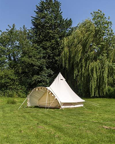 Canvas-Zelt, 4 m, Glockenzelt – Baldachin, Glockenzelt mit Wimpelkette