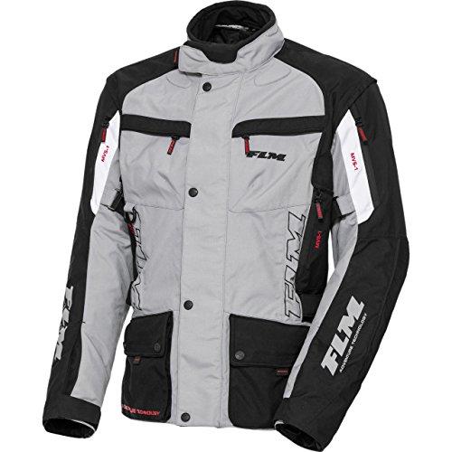 FLM Motorradjacke mit Protektoren Motorrad Jacke Reise Textiljacke 1.0 grau XXL, Herren, Tourer, Ganzjährig