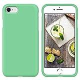 SURPHY Cover Compatibile con iPhone SE 2020/iPhone 8/7, Custodia per iPhone SE 2020/8/7 Silicone Cover Antiurto con Fodera in Microfibra Protettiva Case per iPhone SE 2020/8/7 4.7', Verde menta