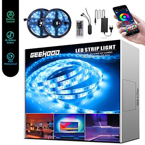 Beedove LED Strip 10M, RGB LED Lichterkette Streifen Lichtband mit Fernbedienung, für Zuhause, Schlafzimmer, TV, Schrankdeko [Energieklasse A++]