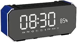 GLJJQMY Mirror Bluetooth Audio Portable Multi-Function Audio with Alarm Clock Inserted U Disk Subwoofer Audio