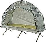 Semptec Urban Survival Technology Feldbettzelt: 2in1-Zelt mit Alu-Feldbett, 1200 mm Wassersäule, 193 x 78 x 160 cm (Liege mit Zelt) - 2
