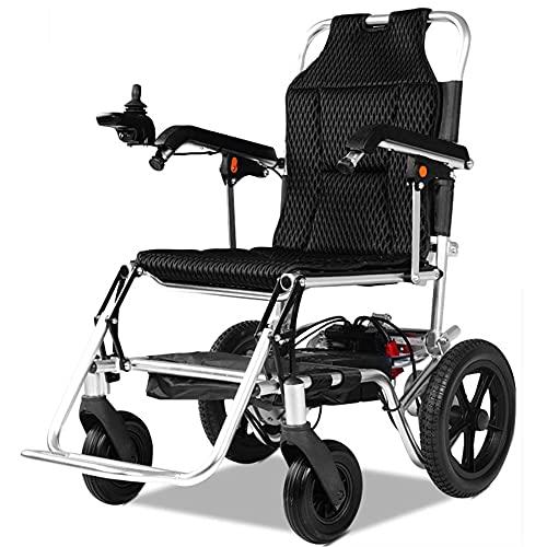 LLSS Silla de Ruedas eléctrica Plegable portátil, Silla de Ruedas de Movilidad asistida por rehabilitación para Adultos discapacitados, Adecuada para Paseos Familiares al Aire