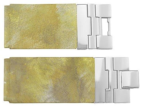 Moog Paris Correa de Reloj de Piel de Becerro, Color Amarillo Hebilla De Joyería, Correa 28mm - B28004