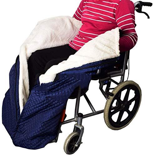 Rollstuhl-Decke mit Zipper, Cashmere-Gefüttert & Wasserdicht, Universal fit für manuell und elektrisch betriebene Rollstühle, maschinenwaschbar, Erwachsene Größe