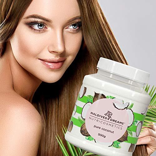 Kokosöl für Haut & Haar 500 ml | Maldives Dreams | Natürliches Kokosnussöl | Fraktioniert | Hypoallergen