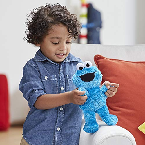 Sesame Street Little Laughs Tickle Me Cookie Monster, Talking, Laughing 10-Inch Plush Toy for Toddlers, Kids 12 Months and Up, 10 inches