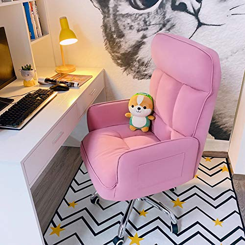 Silla ergonómica para computadora, Silla de Oficina en casa, sillón reclinable de Cuero con Respaldo Alto Ajustable, Silla de Escritorio con Ruedas y apoyabrazos, con Bolsa de Almacenamiento