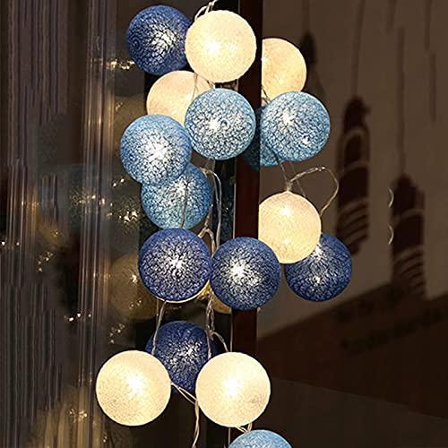 10/20/40 piezas de bolas de algodón, bombilla de luz de hadas, luces nocturnas con pilas (sin batería), guirnalda de iluminación para exteriores, para decoración de fiestas de bodas, luces de hadas