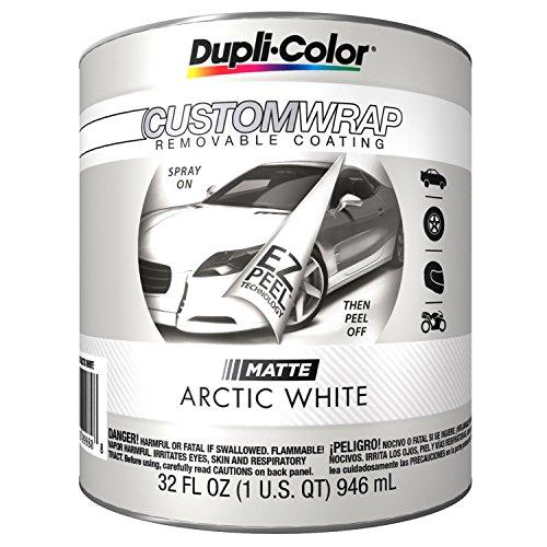 Duplicolor CWBQ798 Custom Wrap Matte Arctic White 1 Quart
