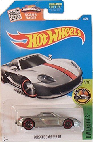 Hot Wheels, 2016 HW Exotics, Porsche Carrera GT Exclusive ZAMAC #74/250 by