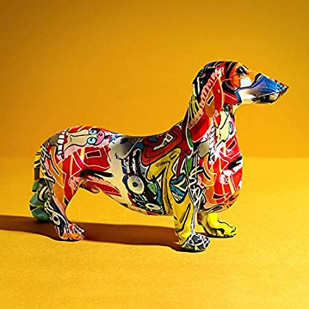 "Interior Illusions Graffiti Dachshund Dog 17.5 /"" Home Decor Modern Design"