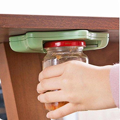 HCFKJ Glas ÖFfner Unter KüChenschrank-Gegenoberseiten Deckel Remover Arthritis Satz (Grün, One Size)