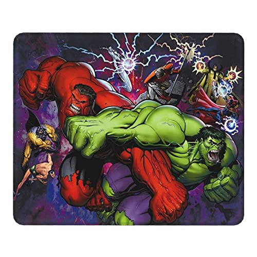 Anime Hulk - Alfombrilla para ratón, diseño de ratón, color rojo