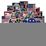 WYZNB Calcomanía de graffiti con la bandera presidencial americana para portátil, frigorífico,...