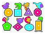 Melissa & Doug- Shapes Peg Juego Puzzle con 8 Piezas, Multicolor (Melissa&Doug 3285) , color/modelo surtido