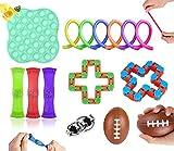 Fidget Toy Packs ,Juego de Juguetes Fidget sensoriales, Juego de Juguetes Fidget para aliviar el estrés, Bolas antiestrés de ADN con Juguetes de Mano Fidget, Juguetes contra el estrés y la ansiedad