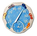 Springfield 12' Sandals Poly Resin Thermometer with Clock