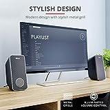 Trust Arys 2.0 USB Lautsprecher Set (28 Watt, 3,5mm Klinke, USB-Stromversorgung, für PC, Laptop, Tablet und Smartphone) schwarz - 3
