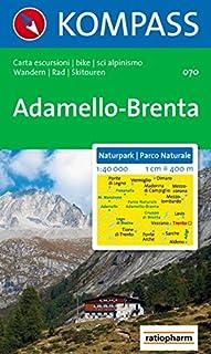 Carta escursionistica n. 070. Trentino, Veneto. Parco naturale Adamello-Brenta 1:40.000 (CARTE DE RANDONNEE - 1/40.000)