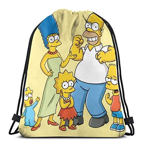 Anime Cartoon Simpsons Rucksack mit Kordelzug, für Fitnessstudio, Reisen