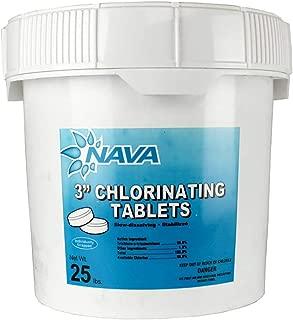 Nava chlorine large tablets - 25lbs - 3
