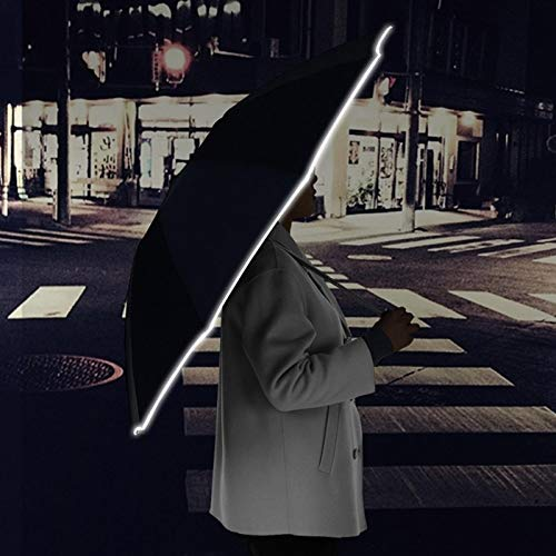 LED Reflective Umbrella,Inverted Umbrella Travel Umbrella with LED Flashlight Handle for 1-2 People
