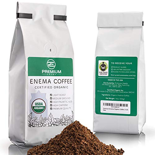 Premium Enema™ Organic Enema Coffee (1LB) Light Roast, Medium Ground - Perfect For Gerson Coffee Enemas - Fair Trade Certified - Made in the USA
