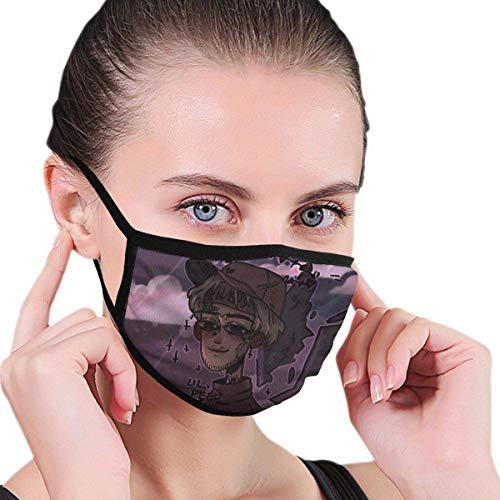 Tengyuntong Lil-Peep Mund - Wiederverwendbarer Staub Gesichtsschutz Bedrucktes Stirnband Verstellbare Sturmhaube Winddicht f & uml; r Frauen M? Nner