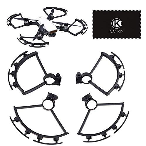 CamKix propellerbescherming met veerbuffers Compatibel met DJI Spark - 1 set (zwart) - beschermt de propellers tegen schade - propellerbladbescherming voor een veilige vlucht - onmisbare drone-accessoires