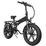Bicicleta EléCtrica Potente Plegable De 20 * 4.0 Pulgadas, 500w 48v12.5a Batería Bicicleta De Montaña Ciclismo Bicicleta De Nieve, para Entretenimiento para Adultos Y JóVenes