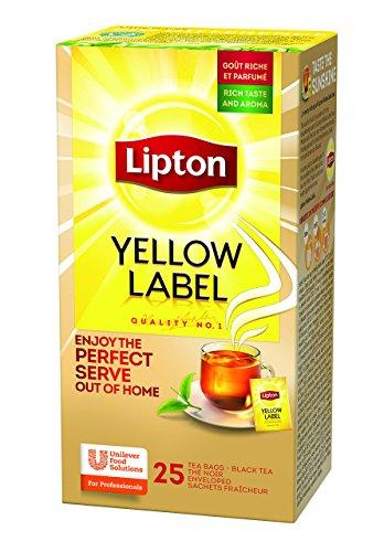 Lipton Yellow Label Schwarztee (aus sonnengereiften Teeblätter) 3er Pack (3 x 25 Teebeutel)